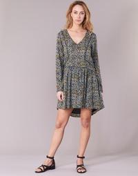 Clothing Women Short Dresses Kaporal VERA Beige / Multicoloured