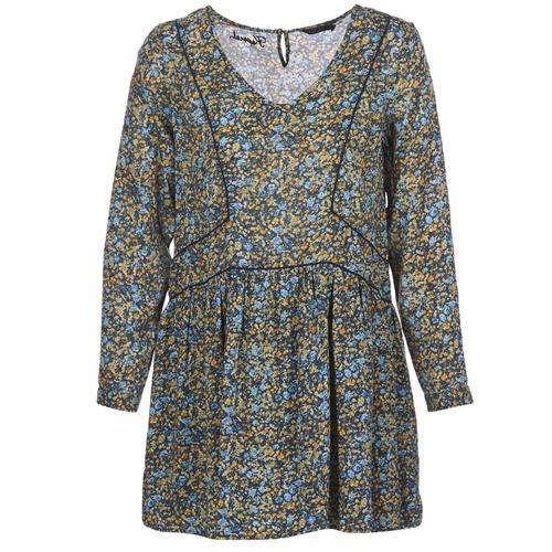 Clothing Women Short Dresses Kaporal VERA Beige / Multicolour