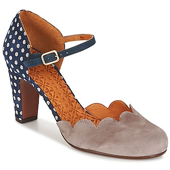 Shoes Women Heels Chie Mihara QUERESA Navy / Grey