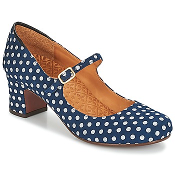 Vintage Heels, Retro Heels, Pumps, Shoes Chie Mihara  TROC  womens Court Shoes in Blue £221.85 AT vintagedancer.com