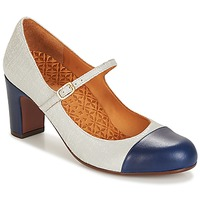 Shoes Women Heels Chie Mihara JENAI Navy / Silver