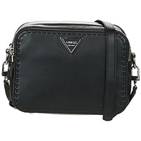 Bags Women Shoulder bags Guess SAWYER CROSSBODY TOP ZIP Black