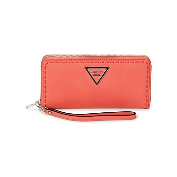 Bags Women Wallets Guess SAWYER LARGE ZIP AROUND Red