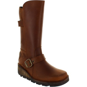 Shoes Women High boots Oxygen Tagus Tan