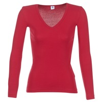 Clothing Women Long sleeved tee-shirts Petit Bateau  Red