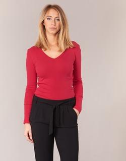 Clothing Women Long sleeved tee-shirts Petit Bateau  Red