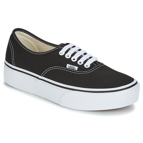 Shoes Women Low top trainers Vans AUTHENTIC Black