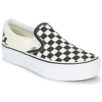 Shoes Women Slip-ons Vans SLIP-ON PLATFORM Black / White