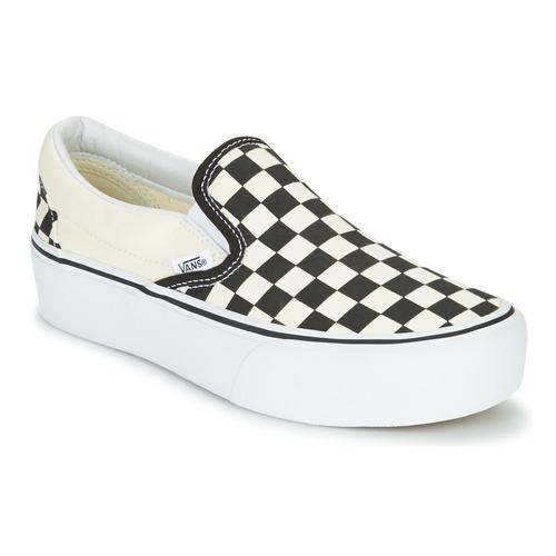 Shoes Women Slip-ons Vans SLIP-ON PLATFORM Black / White
