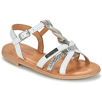 Shoes Girl Sandals Les Tropéziennes par M Belarbi BADAMI White / Silver