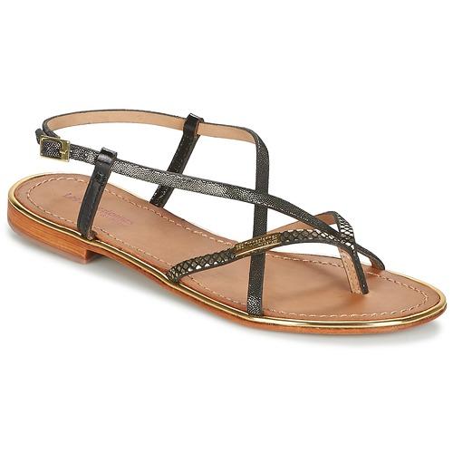 Shoes Women Sandals Les Tropéziennes par M Belarbi MONACO Black / Gold