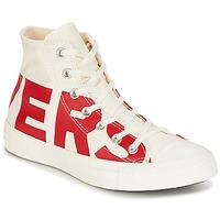 Shoes Hi top trainers Converse Chuck Taylor All Star Hi Converse Wordmark White / Red