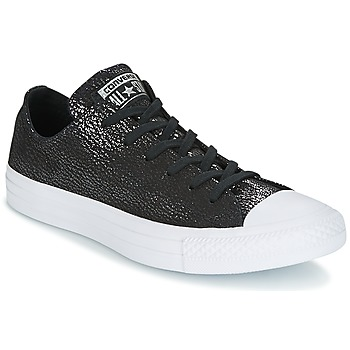 Shoes Women Low top trainers Converse Chuck Taylor All Star Ox Tipped Metallic Black