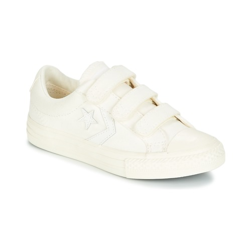 Shoes Boy Low top trainers Converse Star Player EV V Ox March Canvas White
