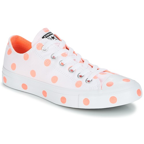 Shoes Women Low top trainers Converse Chuck Taylor All Star-Ox White / Orange