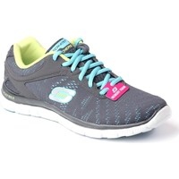 Shoes Women Running shoes Skechers Flex Appeal First Grey