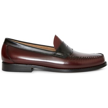 Shoes Men Loafers G.h. Bass & Co. G.H. Bass & Co. Logan Two Tone Loafer Burgundy Red