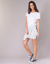 Clothing Women Skirts Converse CONVERSE STAR CHEVRON TRACK SKIRT Grey