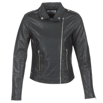 Clothing Women Leather jackets / Imitation leather Vila VICARA Black