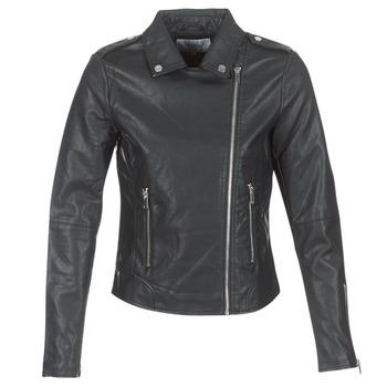 Clothing Women Leather jackets / Imitation leather Vila VICARA Black
