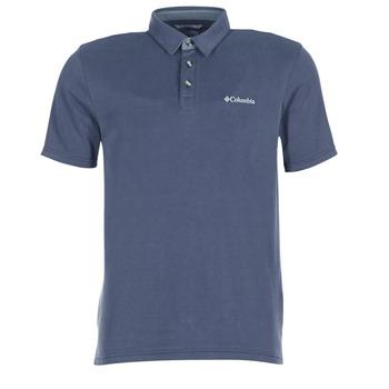 Clothing Men short-sleeved polo shirts Columbia NELSON POINT POLO Marine