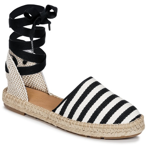 Shoes Women Espadrilles Betty London INANO Black / White