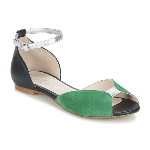 Shoes Women Sandals Betty London INALI Black / Silver / Green