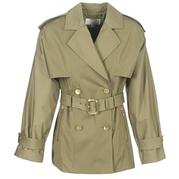 Clothing Women Trench coats MICHAEL Michael Kors SHRT WIDE TRENCH Kaki