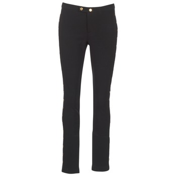 Clothing Women slim jeans MICHAEL Michael Kors DOME STUD PLTD PANT Black