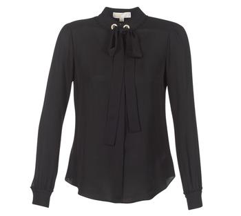 Clothing Women Tops / Blouses MICHAEL Michael Kors GROMMET NK TIE BLSE Black