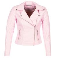 Clothing Women Leather jackets / Imitation leather Noisy May NMREBEL Pink