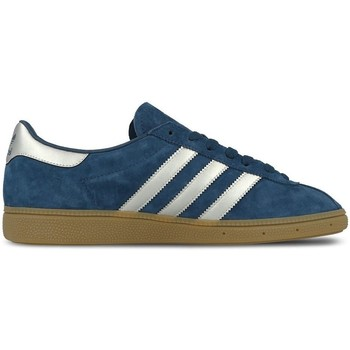 Shoes Men Low top trainers adidas Originals Munchen Mystery Blue Blue-Brown-White