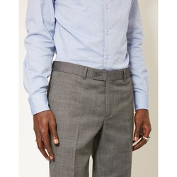 Clothing Men chinos The Idle Man Slim Textured Pure Wool Suit Trousers Grey Grey