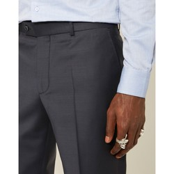 Clothing Men chinos The Idle Man Slim Fit Pure Wool Suit Trousers Navy Blue