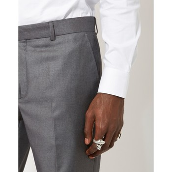 Clothing Men chinos The Idle Man Slim Fit Pure Wool Suit Trousers Grey Grey