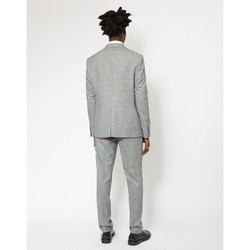 Clothing Men Smart Jackets The Idle Man Slim Prince Of Wales Check Pure Wool Suit Jacket Grey
