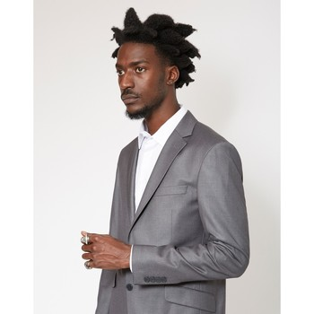 Clothing Men Jackets / Blazers The Idle Man Slim Fit Pure Wool Suit Jacket Grey Grey