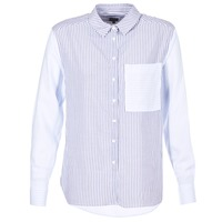 Clothing Women Shirts Pepe jeans MILA White / Blue