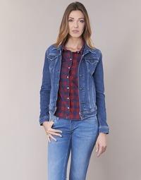 Clothing Women Denim jackets Pepe jeans THRIFT Blue / Medium