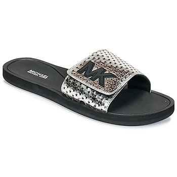 Shoes Women Tap-dancing MICHAEL Michael Kors MK SLIDE Black / Silver