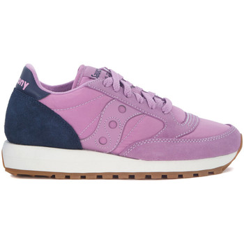 Shoes Women Low top trainers Saucony Jazz blue and lilac suede and nylon sneaker Purple