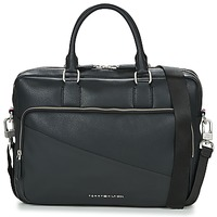 Bags Men Briefcases Tommy Hilfiger TH DIAGONAL COMPUTER BG Black