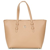 Bags Women Shopping Bags / Baskets Tommy Hilfiger TH SIGNATURE STRAP TOTE Beige