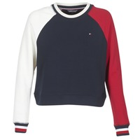 Clothing Women sweatpants Tommy Hilfiger APRIL-ROUND-NK-SWEATSHIRT Blue / White / Red