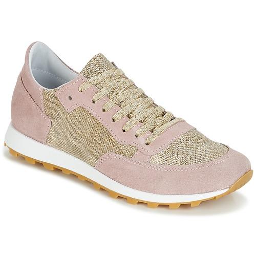 Shoes Women Low top trainers Yurban CROUTA Pink / Gold