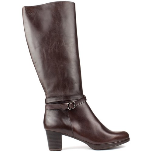 Shoes Women Boots Kroc HIGH LEATHER BOOTS BROWN
