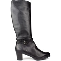Shoes Women Boots Kroc HIGH LEATHER BOOTS BLACK