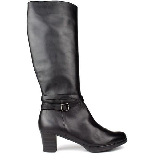Shoes Women Boots Kroc HIGH LEATHER BOOTS BLACK