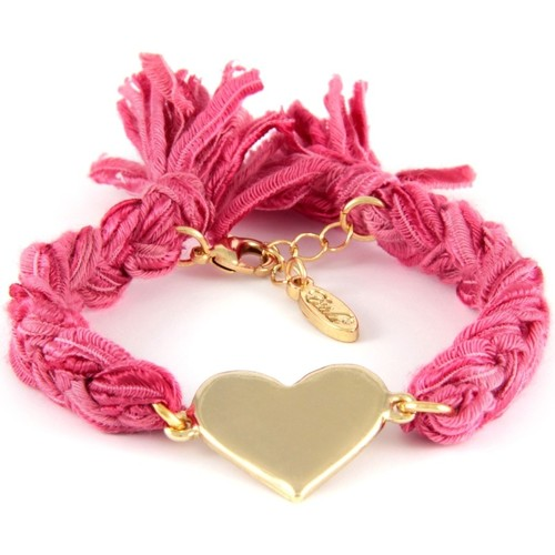 Watches Women Bracelets Blue Pearls Ettika - Pink Ribbons and Yellow Gold Heart Bracelet Multicolored