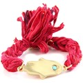 Watches Women Bracelets Blue Pearls Ettika - Red Ribbons and Yellow Gold Hamsa Bracelet Red